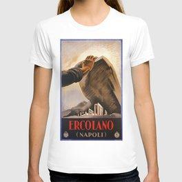 Ercolano Naples Italian art deco ad T-shirt