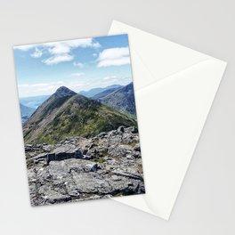 Aonach Eagach from Stob Coire Raineach Stationery Cards