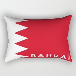 bahrain country flag name text Rectangular Pillow