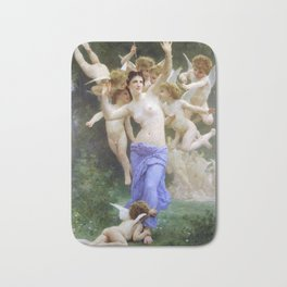 The Invasion (The Wasp's Nest) Le Guêpier by William-Adolphe Bouguereau Bath Mat