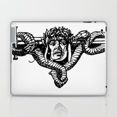 A tailpiece of an assassin's head and his sword Laptop & iPad Skin