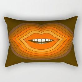 Pop Lips - Golden Rectangular Pillow