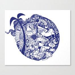 chock-full circle Canvas Print