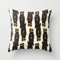 beard Throw Pillows featuring Beard by George Azmy