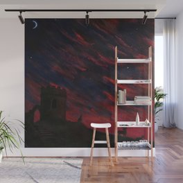 A Red Sky at Night Wall Mural