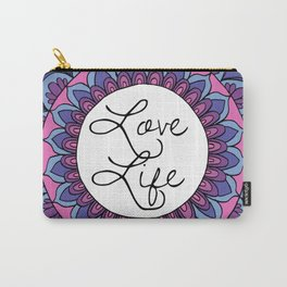 Love Life Mandala Ultraviolet Carry-All Pouch