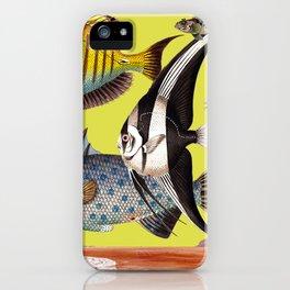 Fish World yellow iPhone Case