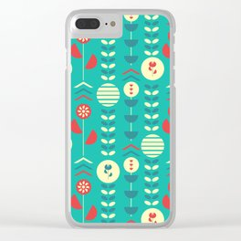 Happy modern floral decoration Clear iPhone Case