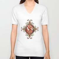 paisley V-neck T-shirts featuring Paisley Redux by DebS Digs Photo Art