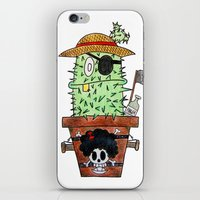 luffy iPhone & iPod Skins featuring Cactus Luffy by Vania Pietronigro