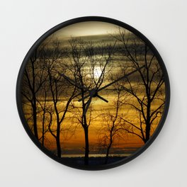 Sunset time Wall Clock