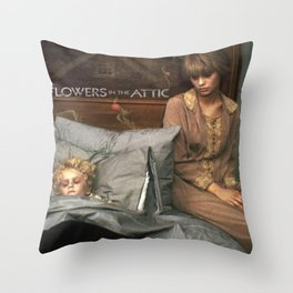 Attic Of Flowers Throw Pillow