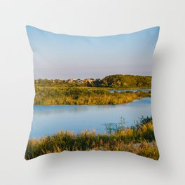 South Cape May Meadows Throw Pillow