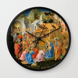 "Fra Angelico and Fra Filippo Lippi ""Adoration of the Magi"" Wall Clock"