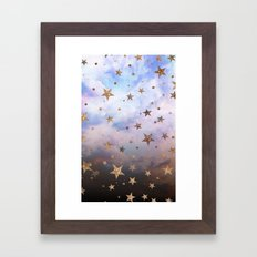 Cloudy Stars Framed Art Print