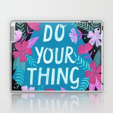 Do Your Thing - Turquoise Laptop & iPad Skin