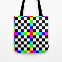 Prism Enters the Chessboard Remix Tote Bag