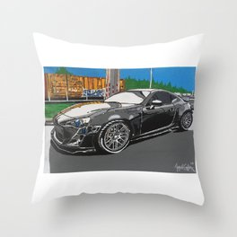 Scion FR-S plan A painting Throw Pillow