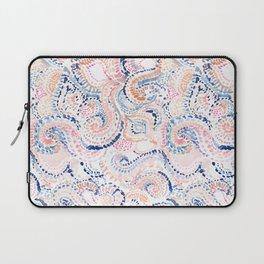 Indigo Ikat Painted Abstract Laptop Sleeve