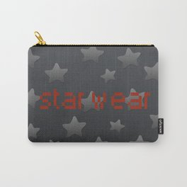 Cool Grey Silver Star Wear Carry-All Pouch