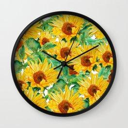 sunflower pattern Wall Clock