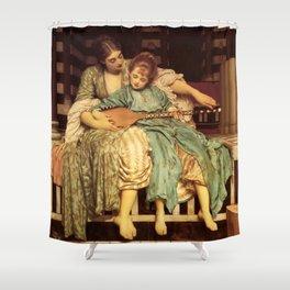 "Frederic Leighton ""Music lesson"" Shower Curtain"