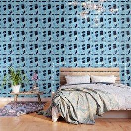 vintage 90s craze blue Wallpaper