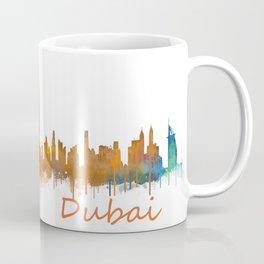 Dubai, emirates, City Cityscape Skyline watercolor art v2 Coffee Mug