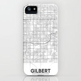 Minimal City Maps - Map Of Gilbert, Arizona, United States iPhone Case