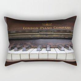 Piano keys Old antique vintage music instrument Rectangular Pillow