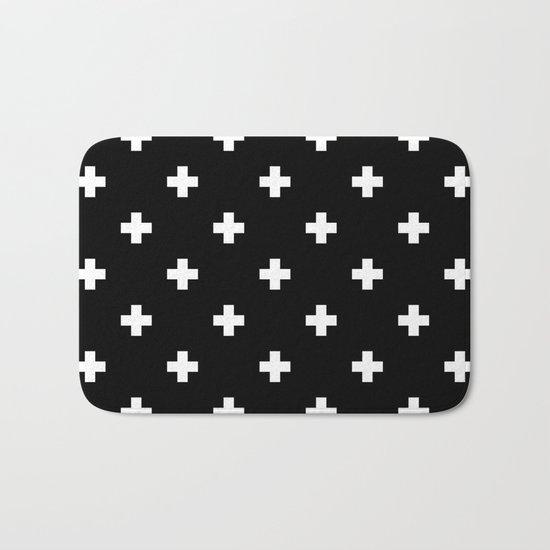 Swiss cross pattern Bath Mat
