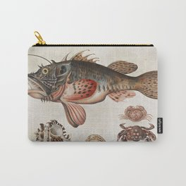 Vintage Fish and Crab Illustration by Maria Sibylla Merian, 1717 Carry-All Pouch