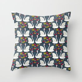 Swans by Andrea Lauren  Throw Pillow
