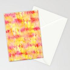 Modern bright boho pink orange tie dye watercolor stripes pattern Stationery Cards