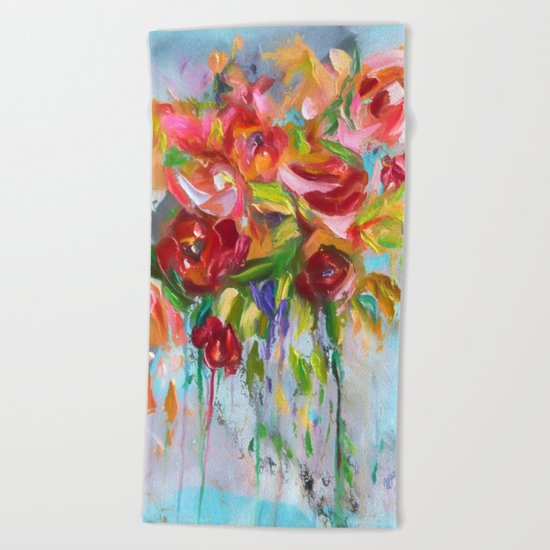 Pink Abstract - I Beach Towel