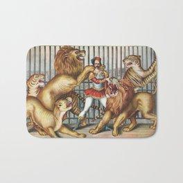 The Lion Tamer - Vintage Circus Art, 1873 Bath Mat