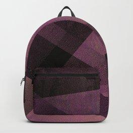 Edgy Pastel Pink - Digital Geometric Texture Backpack