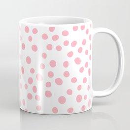 Hot Pink doodle dots Coffee Mug