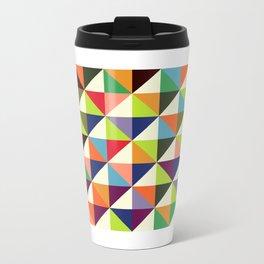 Geometric Pattern #86 (colorful mid-century triangle) Travel Mug