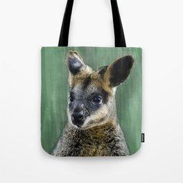 Curious Wally-Wallaby Tote Bag