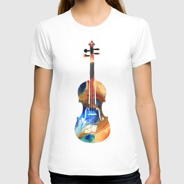 Violin Art By Sharon Cummings T-shirt