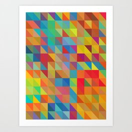Color Chaos Art Print