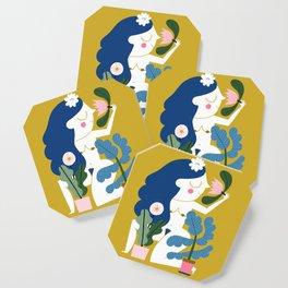 Blue Plant Lady Coaster