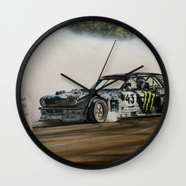 Ken Block Hoonicorn Drift Car Wall Clock