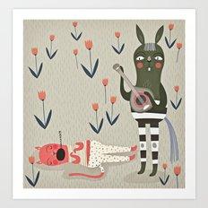 Naps. Art Print