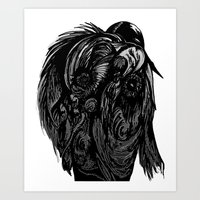 birdman Art Prints featuring Birdman by Hartless