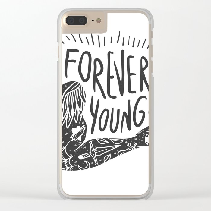 Forever youg 1 Clear iPhone Case