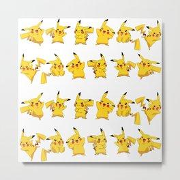 Pikachú Pokémon Metal Print