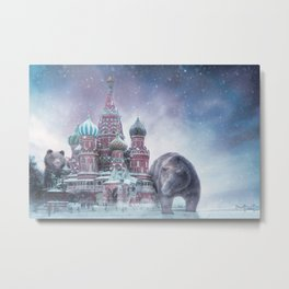 From Russai with Bears Metal Print