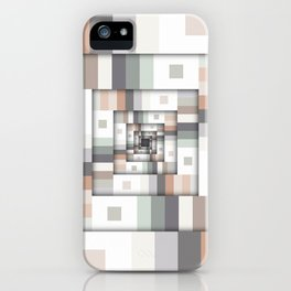 Colorful Geometric Layers iPhone Case